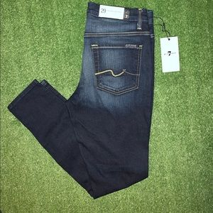 (NWT) 7 for all mankind high waist ankle skinny